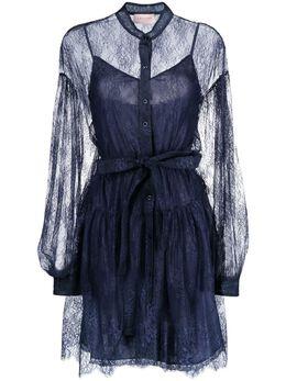 Ermanno Ermanno Scervino кружевное платье с пышными рукавами D38ETAB11PIZ