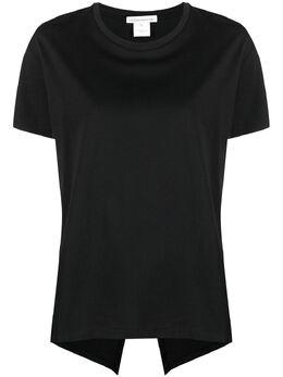 Stefano Mortari расклешенная футболка с разрезом сзади L21042