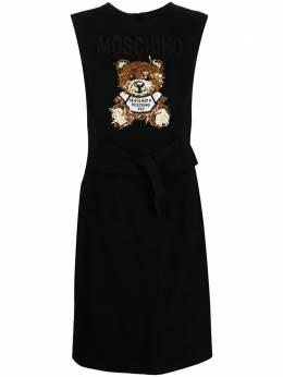 Moschino платье с декором Teddy Bear 04280525