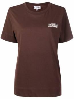 Ganni футболка с вышитым логотипом T2775