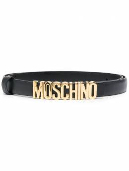 Moschino lettering logo buckle belt A80088001