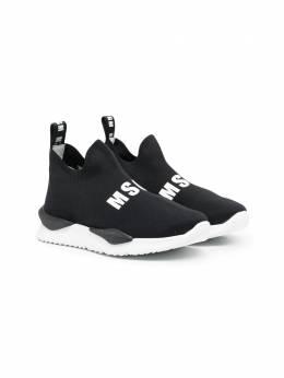MSGM Kids кроссовки-носки с логотипом 67276N