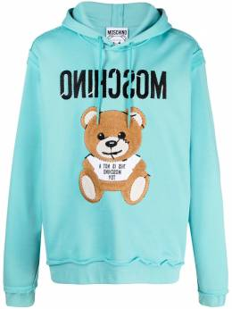 Moschino Teddy Bear embroidered hoodie A17750227