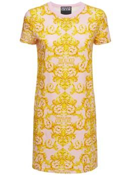 Платье Из Джерси С Принтом Versace Jeans Couture 73IA88034-NDAy0