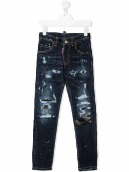 Dsquared2 Kids distressed-effect slim-fit jeans DQ03LDD005B