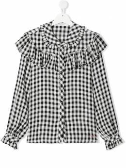 Philosophy Di Lorenzo Serafini Kids клетчатая блузка с длинными рукавами PJCA63WH005