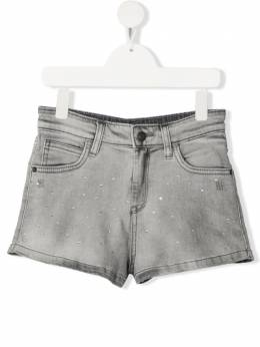 Zadig & Voltaire Kids джинсовые шорты Adriana со стразами X14114