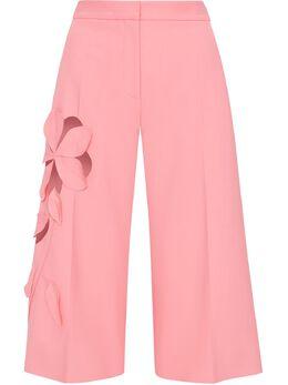 Oscar De La Renta укороченные брюки с цветочным принтом 21RN303DSWCAR