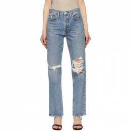 Agolde Blue Lana Mid-Rise Vintage Straight Jeans A140-1206