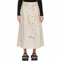 'S Max Mara Beige Cotton Gabardine Skirt 91010111600 MM10224