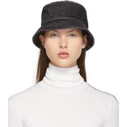 Maison Michel Black Denim Axel Bucket Hat 2290025001