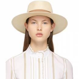 Maison Michel Beige Straw Charles Panama Hat 1020064001