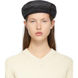 Maison Michel Black Denim New Billy Hat 2214042001