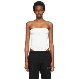 Off-White White Rib Strapless Bodysuit OWDD018S21JER0010100