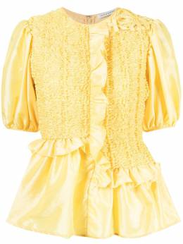 Cecilie Bahnsen блузка Carrie с оборками SC210006CARRIETOP