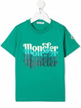 Moncler Enfant футболка с логотипом G19548C7542083907