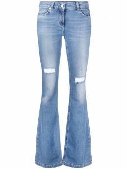 Blumarine расклешенные джинсы с эффектом потертости 225217170
