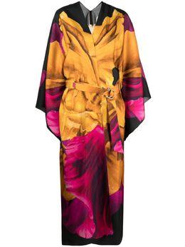 Maria Lucia Hohan платье-кимоно с цветочным принтом PF003191