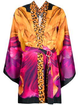 Maria Lucia Hohan блузка-кимоно с принтом PF003337