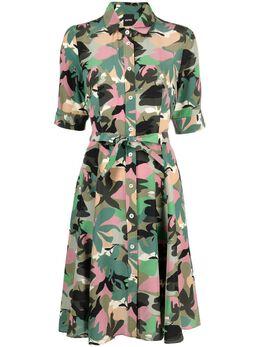 Aspesi платье с камуфляжным принтом WT05F285