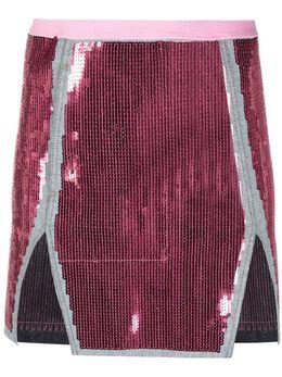 Rick Owens юбка мини с разрезом спереди RP21S3348SRAWM1