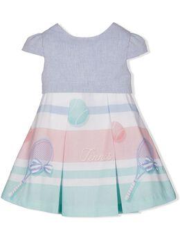 Lapin House расклешенное платье с принтом 211E3249