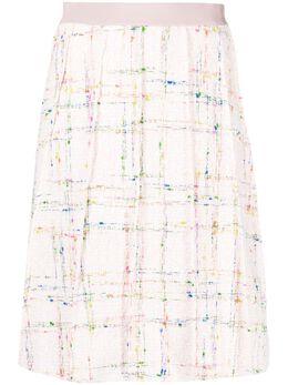 Giambattista Valli юбка с вышивкой и складками 21SSPVCA200311CHE
