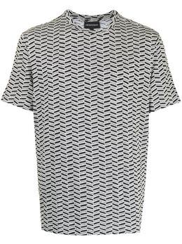 Emporio Armani футболка с узором шеврон 3K1T7T1JM7Z