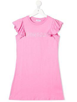 Pinko Kids платье-футболка с оборками 27244