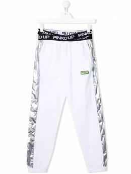 Pinko Kids спортивные брюки с логотипом 027276