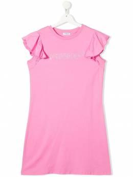 Pinko Kids приталенное платье с логотипом 027244