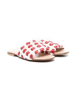 Ermanno Scervino Junior сандалии с плетеными ремешками 68060