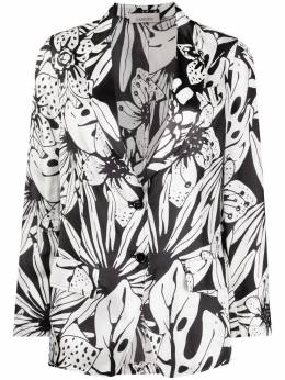 Laneus блейзер с цветочным принтом GCD005