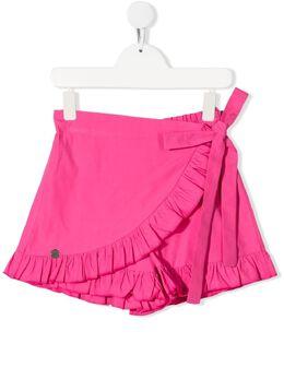 Miss Blumarine шорты с оборками и запахом MBL3882