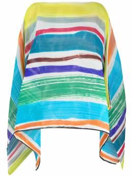 Pleats Please Issey Miyake плиссированный шарф в полоску PP17AD181