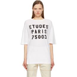 Etudes White Museum Stencil T-Shirt E18M-409-02