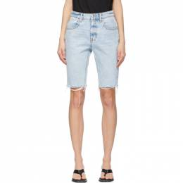 Alexander Wang Blue Denim Bike Shorts 4DC2214904