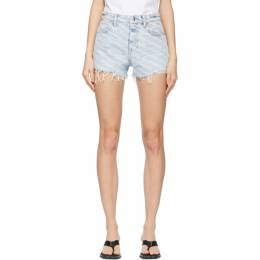 Alexander Wang Blue Bite Logo Shorts 4DC2214781