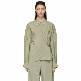 Lemaire Green Twisted Shirt W 211 SH254 LF208