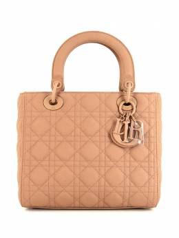 Christian Dior сумка Cannage Lady Dior pre-owned среднего размера 373878