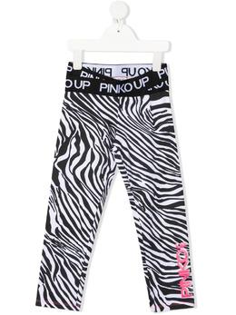 Pinko Kids легинсы с зебровым принтом 027799