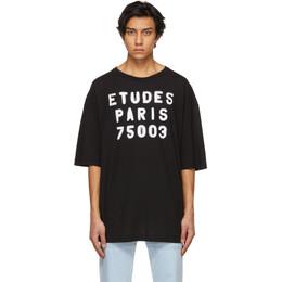 Etudes Black Museum Stencil T-Shirt E18M-409-01