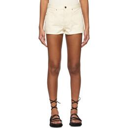Khaite Off-White The Charlotte Shorts 1063-051