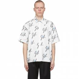 C2H4 White My Own Private Planet Monogram Short Sleeve Shirt R003-020T