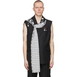 C2H4 Black My Own Private Planet Alternate Scarf Variant Tailored Vest R003-015J