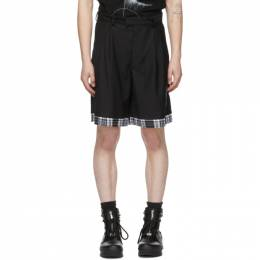 C2H4 Black My Own Private Planet Sequin Layered Tailored Shorts R003-047P
