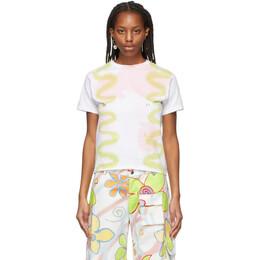 Collina Strada SSENSE Exclusive Multicolor Squiggle Pierced T-Shirt XX3440