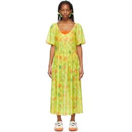 Collina Strada Yellow Floral Princess Mariposa Dress XX4382