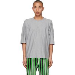 Homme Plisse Issey Miyake Grey Release-T Basic T-Shirt HP17JK200