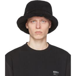 C2H4 SSENSE Exclusive Black Filtered Reality Fleece Bucket Hat R002-116